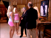 Bridget Marquardt's ass and busty Kendra Wilkinson (with Hef and Larry David) ... 7 non-HD caps from of HBO's CURB YOUR ENTHUSIASM
