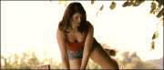 Gemma Arterton's cleavage &amp;amp; ass climbing a fence in jean shorts ... 6 non-HD TAMARA DREWE caps